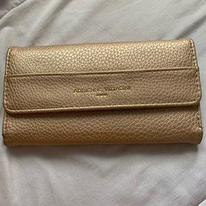 Adrienne Vittadini Gold Wallet